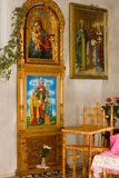 Icons in church. Icons in Christian orthodox church Stock Photo
