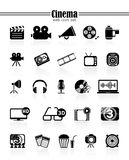 Icons cinema Stock Images