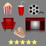 Icons of cinema Stock Photography