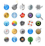 Icons for circles Royalty Free Stock Photos