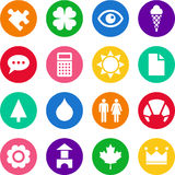 Icons in circles Royalty Free Stock Images