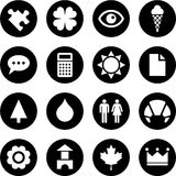 Icons in circles Royalty Free Stock Photography
