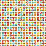 Icons and circles seamless pattern Royalty Free Stock Photography