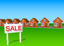 Icons and cliparts set of beautiful houses made of brick sale 2 Stock Images