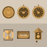 Icons for clocks Stock Image