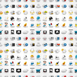 Icons for Cloud network ,seamless pattern Stock Images