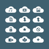 Icons cloud service Stock Photo