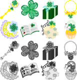 The icons of clover Royalty Free Stock Photography