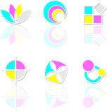 Icons cmyk Royalty Free Stock Photography