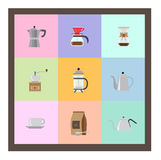 Icons for coffee shop. Royalty Free Stock Photos