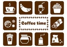 Icons on coffee theme. Vector illustration stock illustration