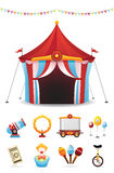 Circus Icons Set Stock Photography