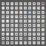 Icons Collection. Collection of different 100 icons vector illustration
