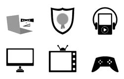 Icons Collection Royalty Free Stock Images