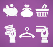 Icons collwction Stock Images