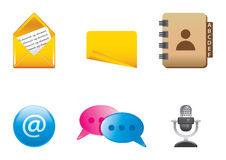 Icons color set 1 Royalty Free Stock Photos