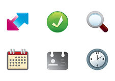 Icons color set 2 Stock Photos