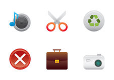 Icons color set 4 Stock Photos