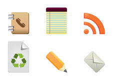 Icons color set 5 Royalty Free Stock Photo