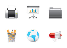 Icons color set 7 Royalty Free Stock Photo