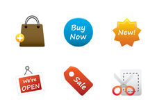 Icons color set 9. Icons color set for multiply use Stock Image