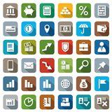 Icons colored Finance. Colored flat icons banking and financial services. For websites and printing Stock Photography