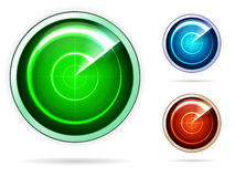 Icons for colored radar Stock Photography