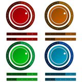 Icons for colored regulation switch scale Royalty Free Stock Photography