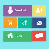 Icons colorful buttons on mobile application Royalty Free Stock Images
