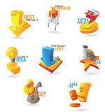 Icons for commerce and retail. Icons for retail commerce. Vector illustration Stock Images