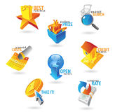 Icons for commerce and retail Stock Images