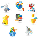 Icons for commerce and retail Royalty Free Stock Image