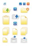 Icons for common computer functions Stock Photos