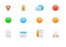 Icons for common computer functions Royalty Free Stock Photography