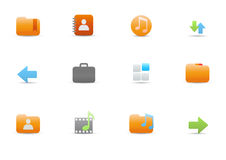 Icons for common computer functions Royalty Free Stock Photos