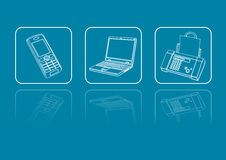 Icons communication Royalty Free Stock Photography