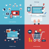Icons for communication, web design, programming Royalty Free Stock Photos