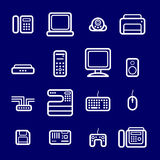 Icons computer devices Stock Image