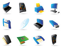Icons for computer and devices Royalty Free Stock Image