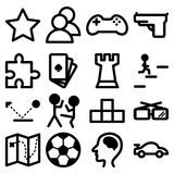 Icons for computer and playstation games Stock Photos