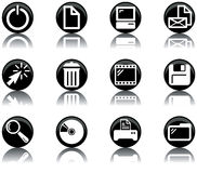 Icons - computer set 2. A set of computer themed icons Royalty Free Stock Image