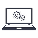 Icons computer settings Royalty Free Stock Images