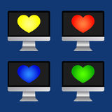 Icons of computer Royalty Free Stock Image
