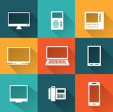 Icons of  computers Royalty Free Stock Photography
