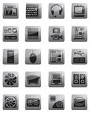 Icons for Computing equipment Royalty Free Stock Photo