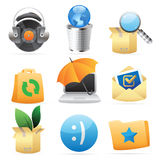 Icons for concepts. And metaphor. Vector illustration Stock Photography