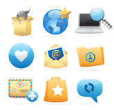 Icons for concepts. And metaphor. Vector illustration Stock Photos