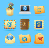 Icons for concepts Royalty Free Stock Photos