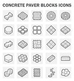Icons. Concrete paver block icons sets on white background Stock Images