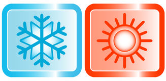 Icons for conditioners topic Stock Image